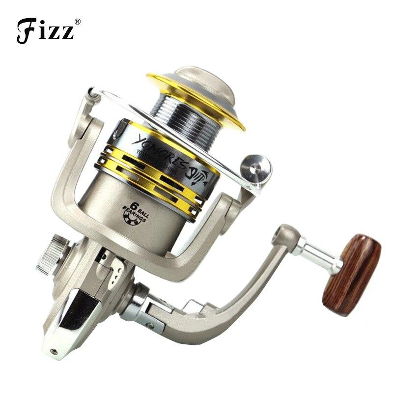 Universal 6 BB Media Metal Spinning Pesca Carrete 5.2: 1 Relación de Velocidad Baitcasting Carrete de la Pesca de Río Lago Mar Aparejos de pesca