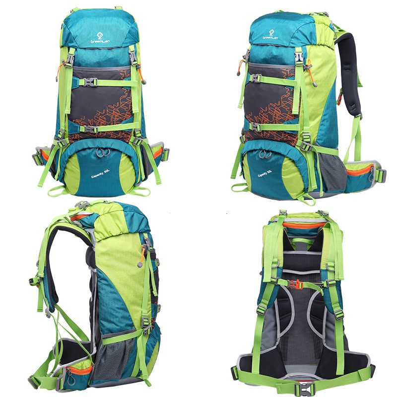 GREENLAN Outdoor 50L Waterproof professional Climbing mountain Backpack Large Multifunction Tactical camping Sports Travel bag blog flashlight outdoor 5led pocket strong waterproof 8 hours to illuminate mountain climbing camping p004