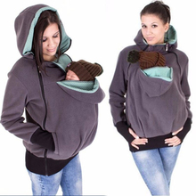 Winter Women Baby Carrier font b Jacket b font Kangaroo hoodie Maternity Outerwear for Pregnant Thickened