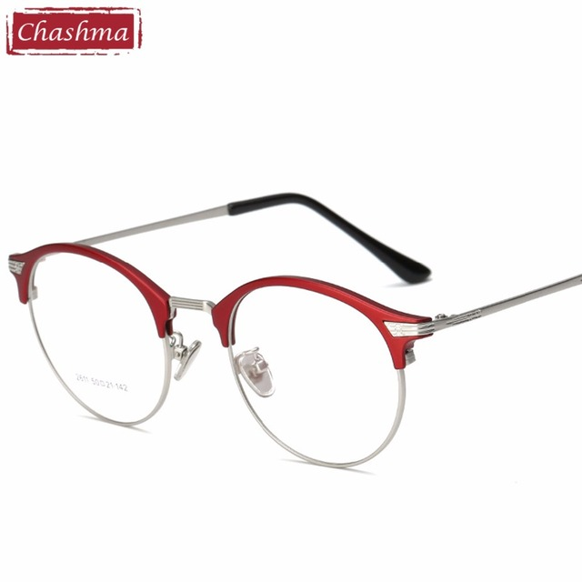 a49f4df04f 2018 New Glasses Chashma Brand Vintage Glasses Round Retro Frame Optical  Glass Clear Lenses Spectacles for Female and Male