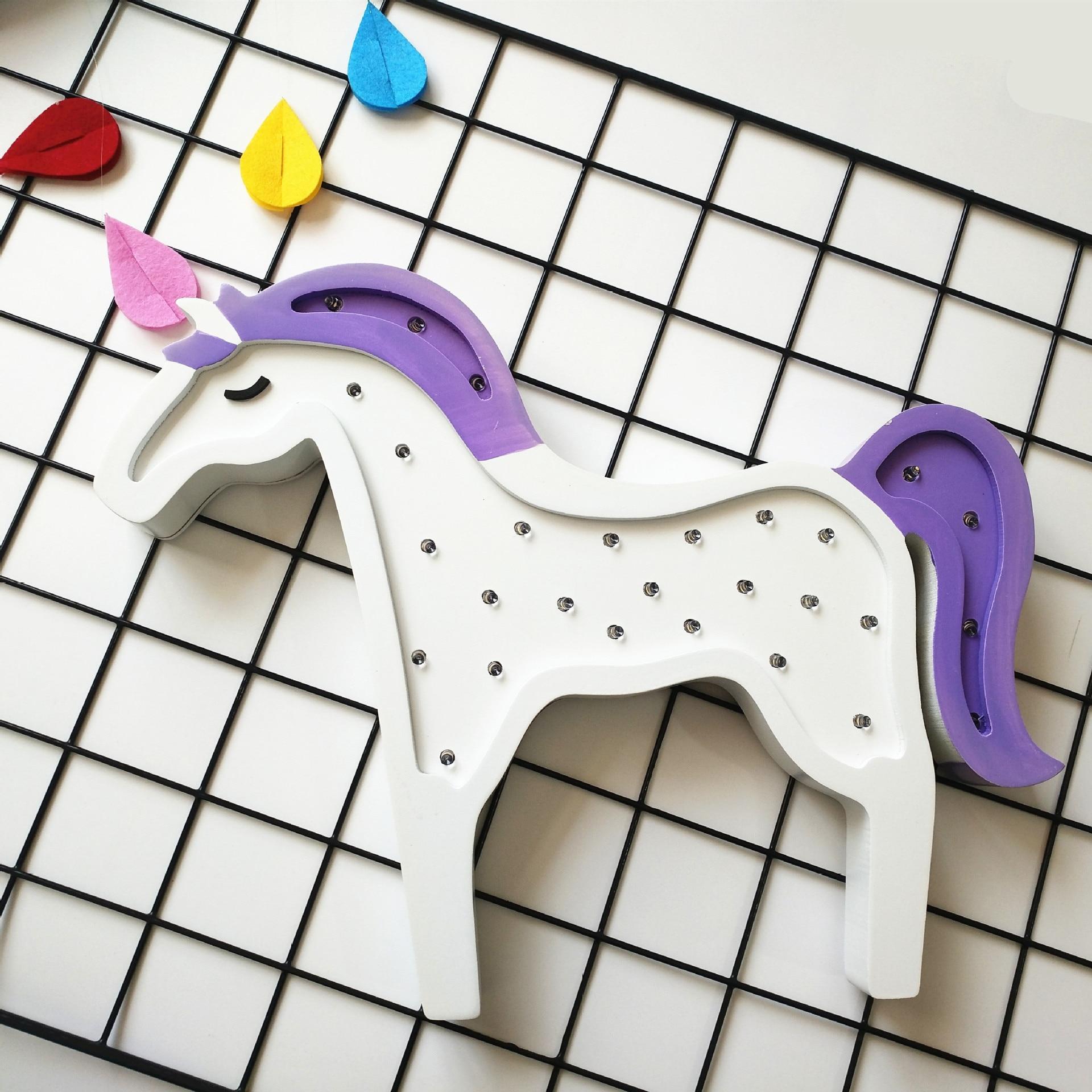 Милый лес животное лошадь светодиодный ночник для детской комнаты Праздничная Свадебная вечеринка деко 1618