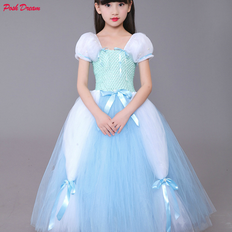 Cinderella Teenager Girl Clothes Communion Dresses Cosplay Halloween Cinderela Costume Kids Princess Hallowen Kids Novelty & Special Use