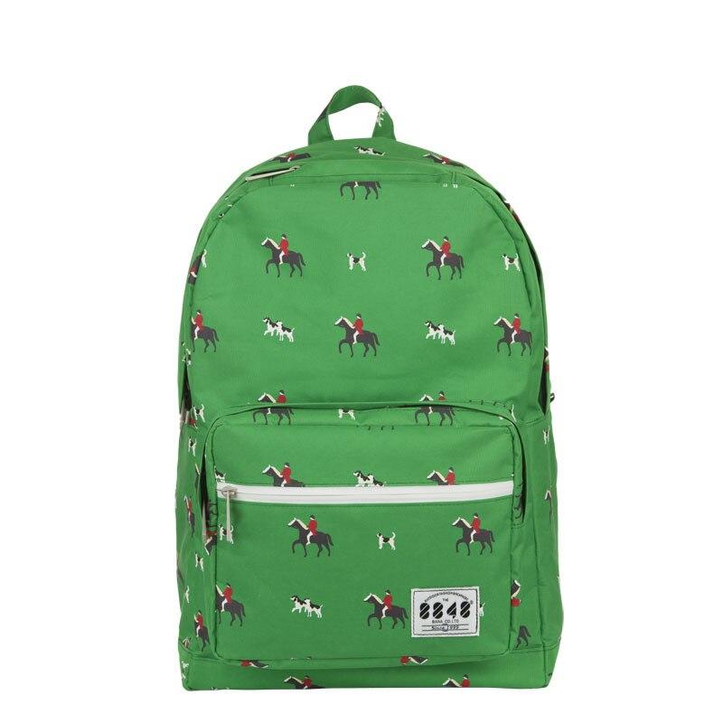 2015 New style 8848 green horses men's backpacks women bag best brand backpack school travel unisex freeshipping C066-6