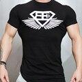 2017 Gymshark Marca T-shirt de Mangas Curtas dos homens Camisa de Fitness Apertado T shirt homem Muscular irmãos Roupas T Tops