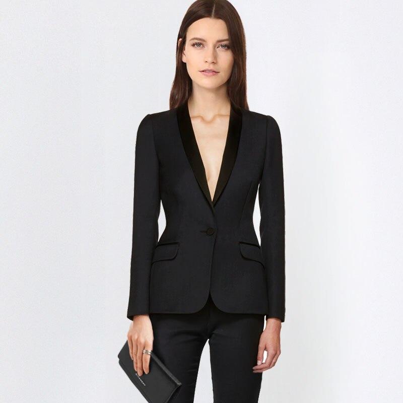 2018 Heißer Elegante Büro Dame Business Anzüge Für Frauen 2 Zwei Stück Sets Weibliche Blazer Jacke & Gerade Hosen Plus Größe Einfach Zu Reparieren