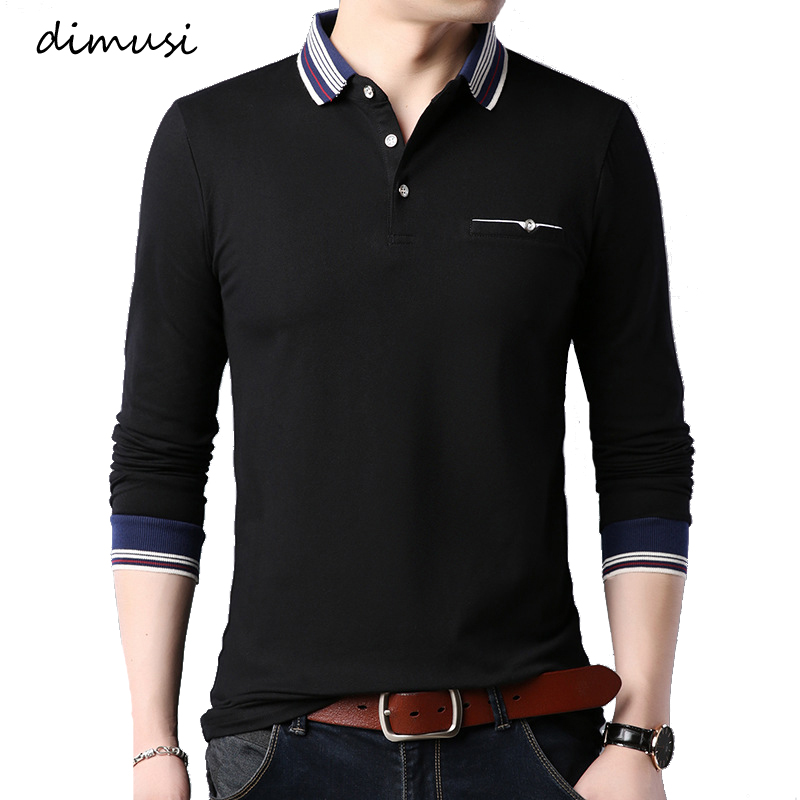 DIMUSI Men Polo Shirts Summer Fashion Men Long Sleeve Cotton Polos Shirts MaleTops Tees Para Hombre Brand Clothing 5XL,YA908