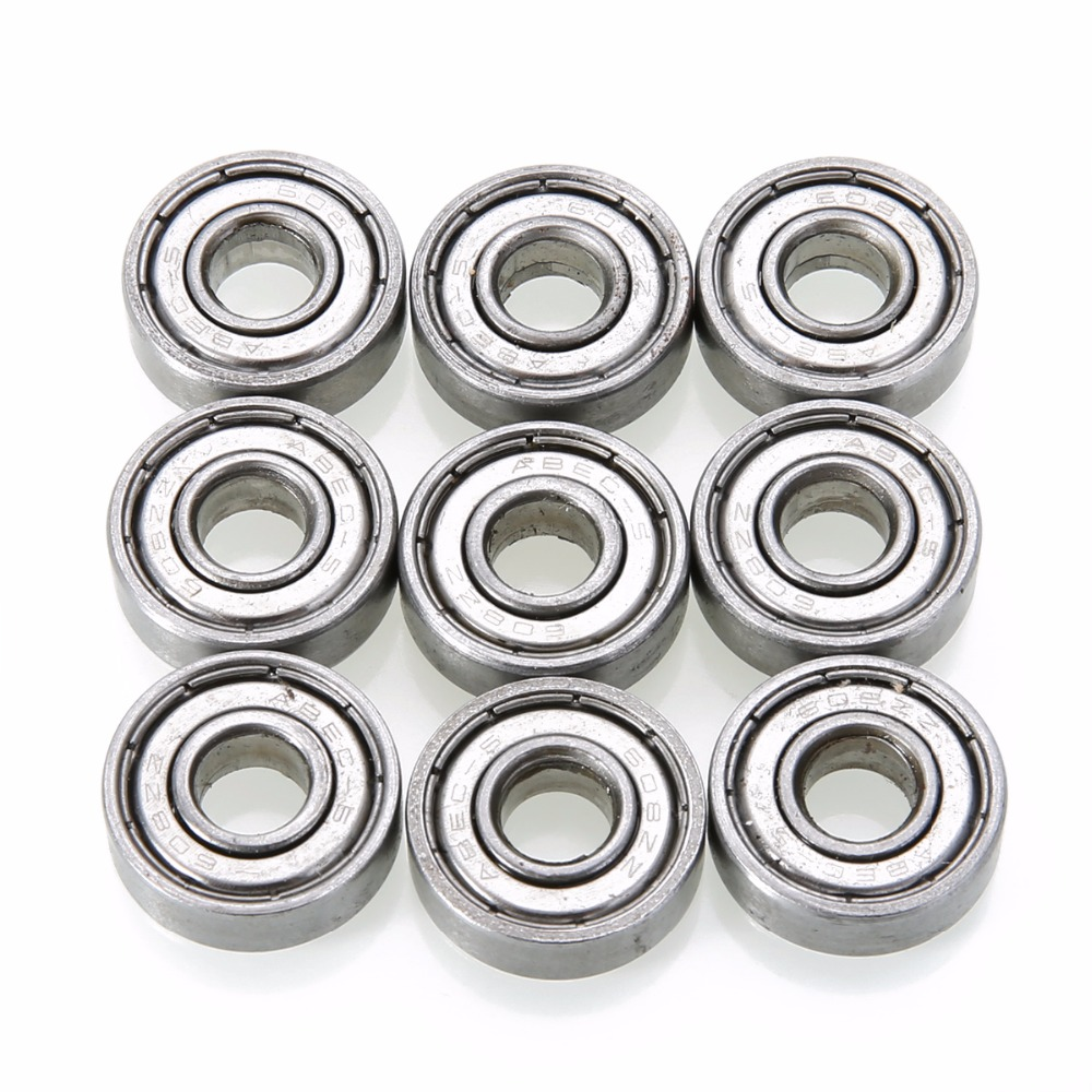 10pcs 608zz Deep Groove Ball Bearing Mayitr Carbon Steel Ball Bearings For Hardware Roller Blade Accessories mtgather durable steel 6800zz deep groove ball bearings two side metal shields 10x19x5mm mechanical parts accessories