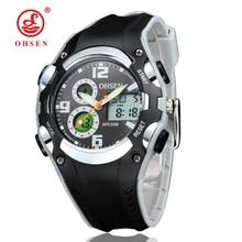 Niños Reloj Deportivo 30 M Relojes Impermeables Kid Correa De Caucho Fecha Alarma Cronómetro Digital Analógico Dual Display OHSEN AS22