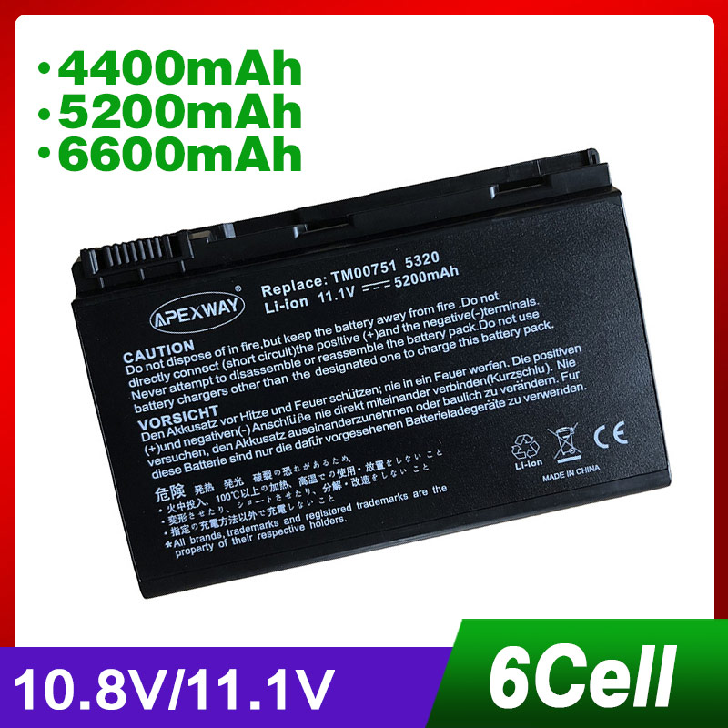 6Cell 11.1V Laptop <font><b>Battery</b></font> for <font><b>ACER</b></font> BT.00605.025 BT.00607.008 BT.00607.017 GRAPE32 5010 5120 <font><b>5210</b></font> 5520 6410 6460 5360 5725 image