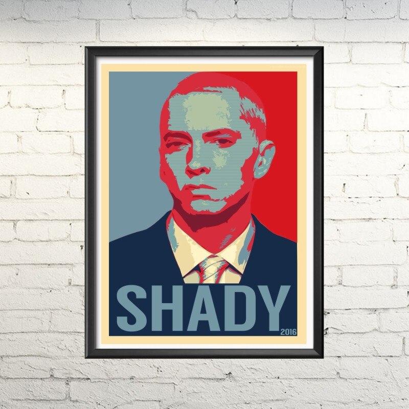 (Home Decor) (Adesivi murali) Eminem cantante roccia hiphop Vintage Retro Matte Kraft Carta Antico Poster Wall Sticker Casa Decora