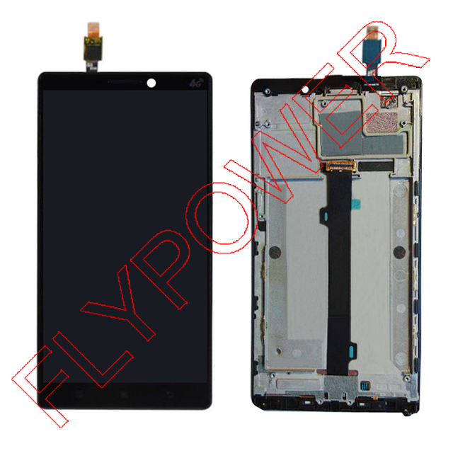100% Warranty  FOR  lenovo Vibe Z2 pro k920 lcd screen display with digitizer touch screen + Frame Assembly by free shipping