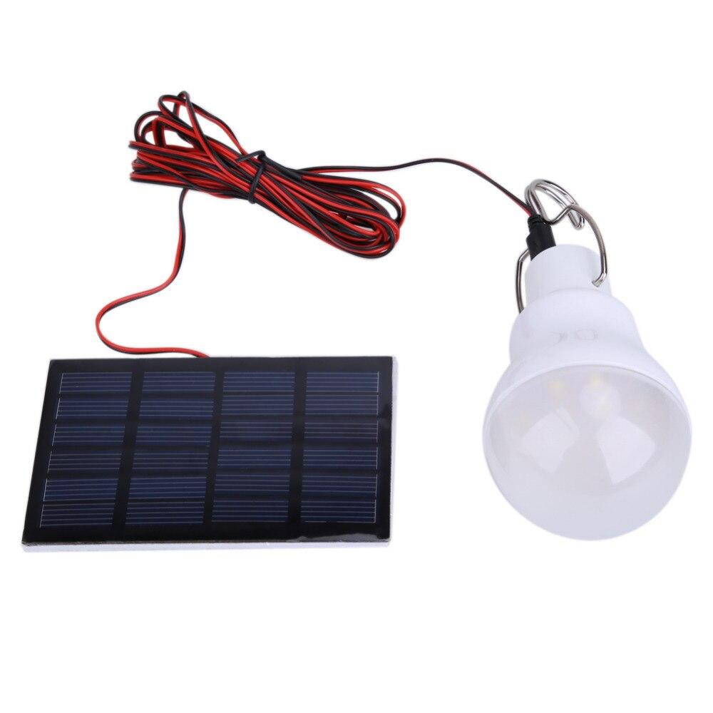 Outdoor Solar Power Light 130LM USB LED Bulb Lamp Portable Hanging Lighting Camping Tent Fishing Emergency Light