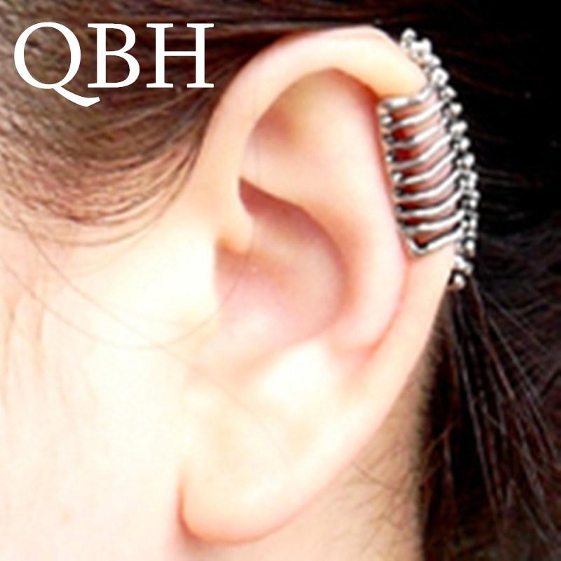 EK152 Boucles Pendientes Brincos New Bijoux Love One Simple U- Skeleton Ear Cuff Clip Earrings For Women Jewelry Accessories