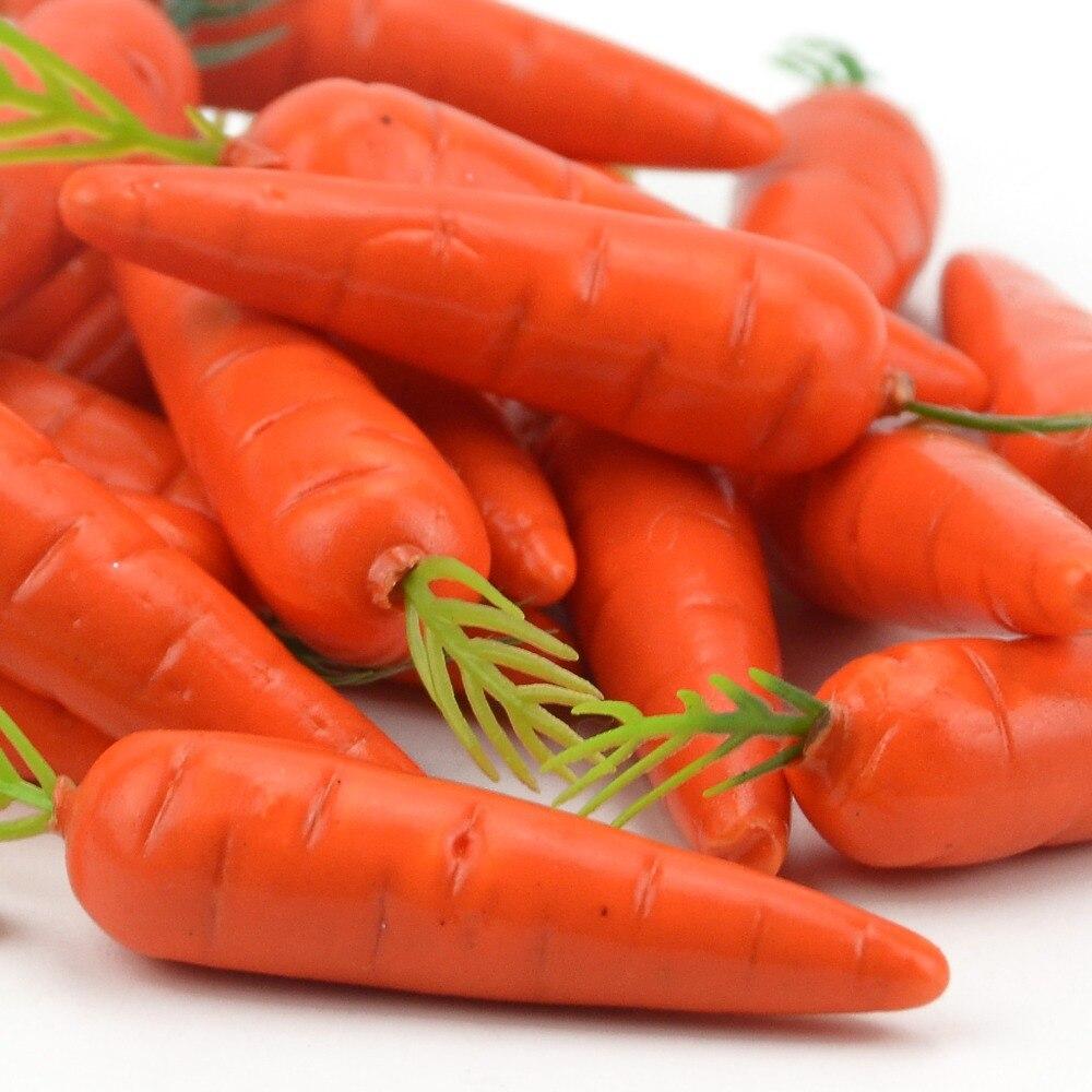 10Pcs Mini Simulation Foam Artificial Fake Carrots Wedding Christmas Party Decor