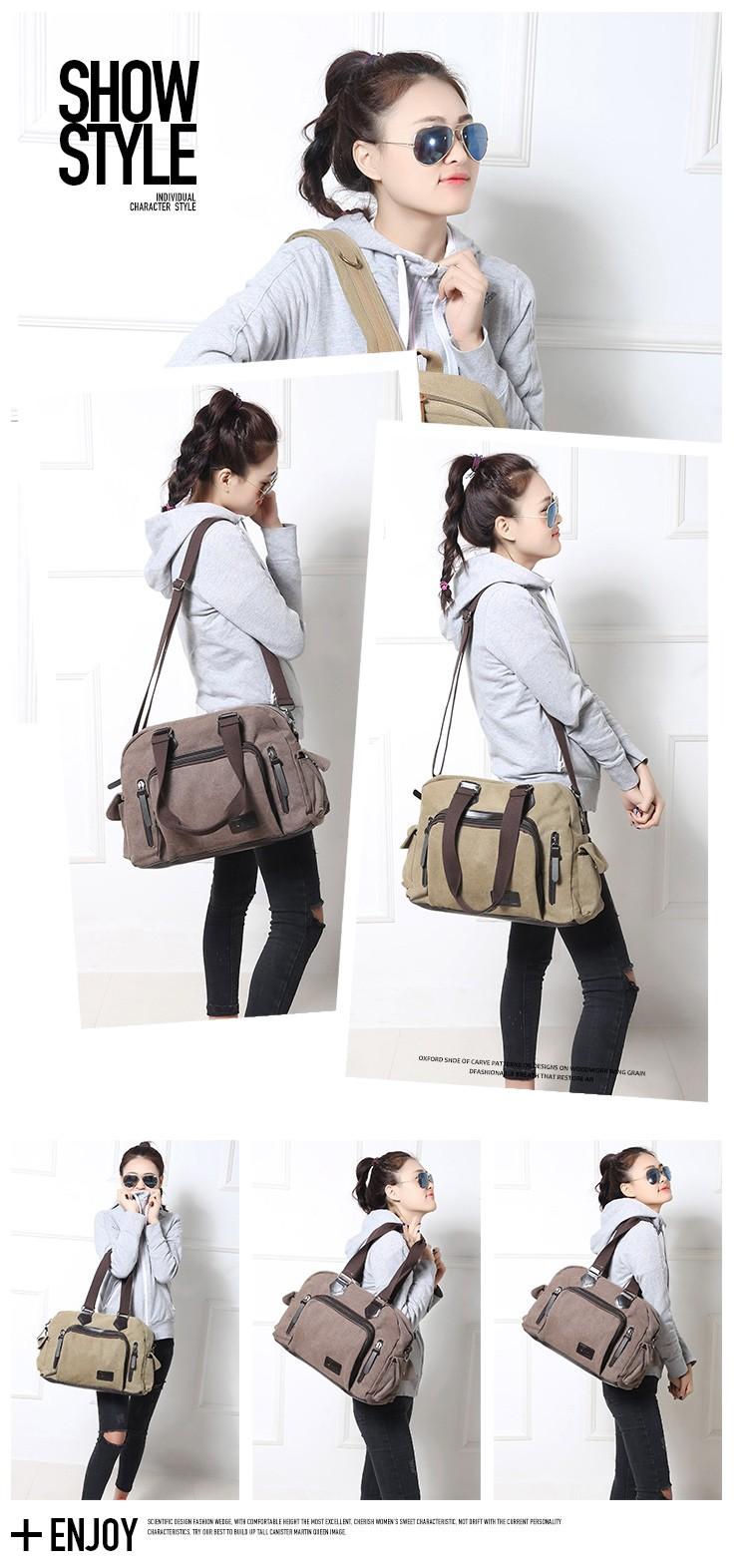 2016 men\'s travel bag canvas men messenger bag brand men\'s bag vintage style briefcase,Travel Shoulder bag (11)