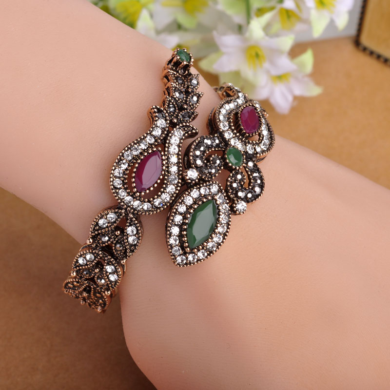 Buy latest vintage women party bangles antique gold plated for Is gold plated jewelry worth anything