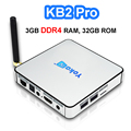 3 GB DDR4 RAM 32 GB ROM Android 6.0 TV Box Amlogic S912 Octa Core KB2 Pro 3D KODI Reproductor Multimedia Inteligente Wifi BT 4 K 1000 M Set Top caja