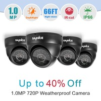 SANNCE 4PCS 720P 1280TVL CCTV Camera System Outdoor Indoor IR Night Vision 1MP Home CCTV Security