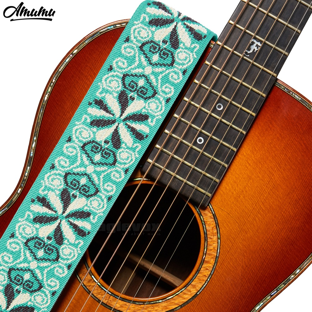 Wide, Hootenanny, Amumu, Guitar, Woven, Green