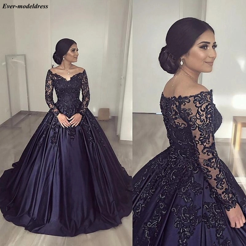 US $136.51 27% OFF|2019 Long Sleeves Quinceanera Dresses Ball Gowns Off  Shoulder Appliques Beaded Plus Size Birthday Party Dress Sweet 16  Dresses-in ...