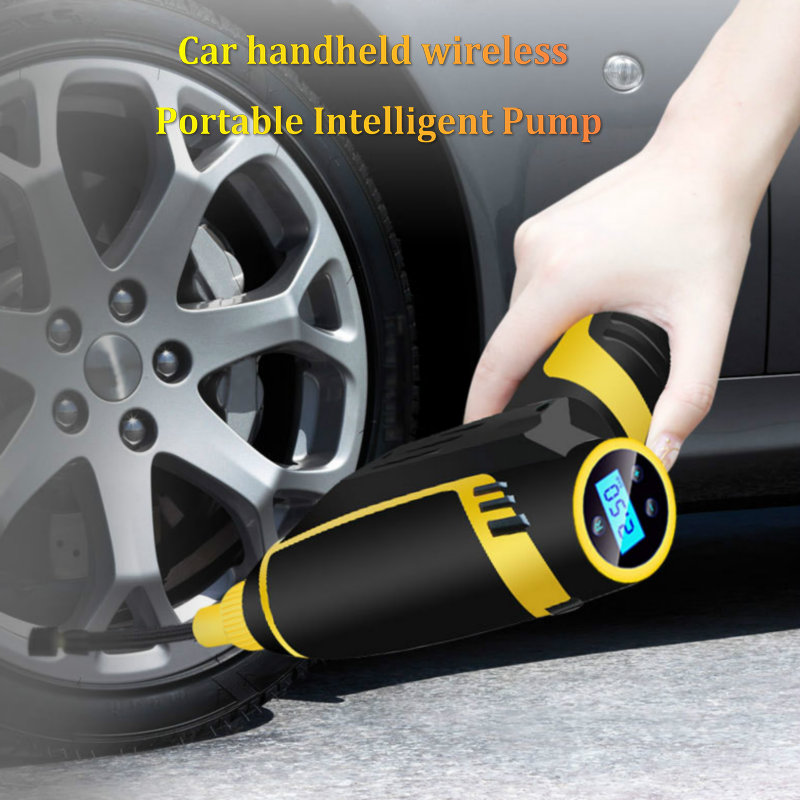 Pompe à vélo intelligente sans fil haute pression pompe électrique voiture portable numérique Intelligent Rechargeable pneu gonflage pompe à Air