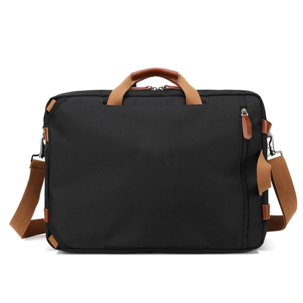 Bolso del negocio maletín mochila Convertible mochila 15 17 17,3 pulgadas portátil mensajero del hombro del ordenador portátil caso - 4