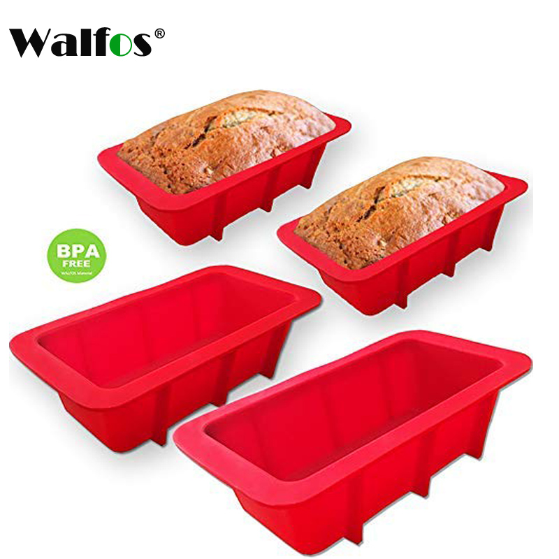 WALFOS High Quality Multi-functional Silicone Bread Mini Loaf Cake Mold Non Stick Bakeware Baking Pan Oven Rectangle Mould(China)