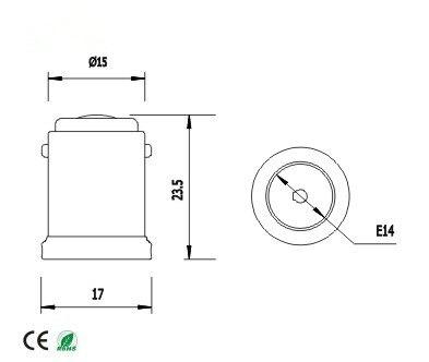Spl-094-l2) 20 штук BA15D к E14 держатель лампы конвертер BA15D штекерным E14 Женский адаптер конвертер огнезащитных PBT