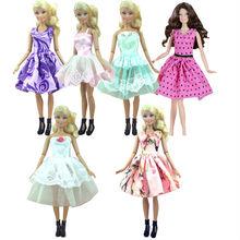 Factory wholesales 50 or 100 pcs/lot Fashion Skirt Mini dress For Barbie Doll small dress