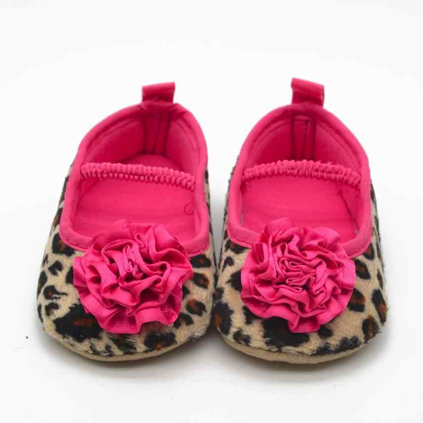 ARLONEET Baby Shoes Girl Boy Soft  Leopard Flowers Soft Bottom Prewalker  2018 kids Great gift Crib shoes