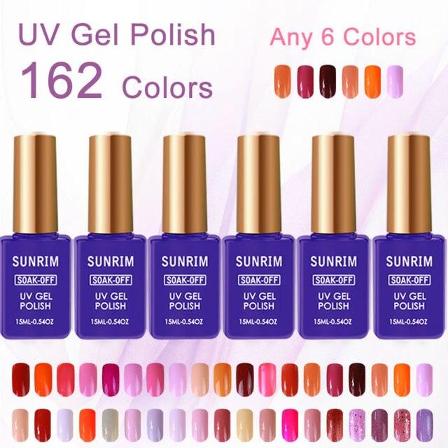 6pcs/lot Acrylic Paint UV Gel Nail Polish Set 15ml DIY Kit Manicure Tools Acrylic Nails the Set Gel Varnish 162 Colors Optional