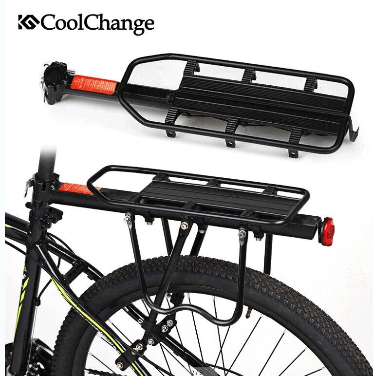 ФОТО CoolChange Aluminium Alloy Bearing 80kg Bicycle Carrier Rack MTB Mountain Bike Cargo Racks Mount Rear Seat Post Rack