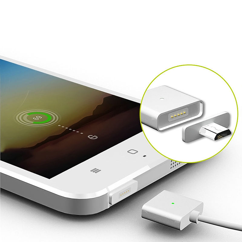 Micro USB Port Magnetic Adapter Charger For Android Micro USB Charging Flex Cable for Smart Phone & Tablet HOT aluminum micro usb cable to magnetic charger adapter for sony xperia