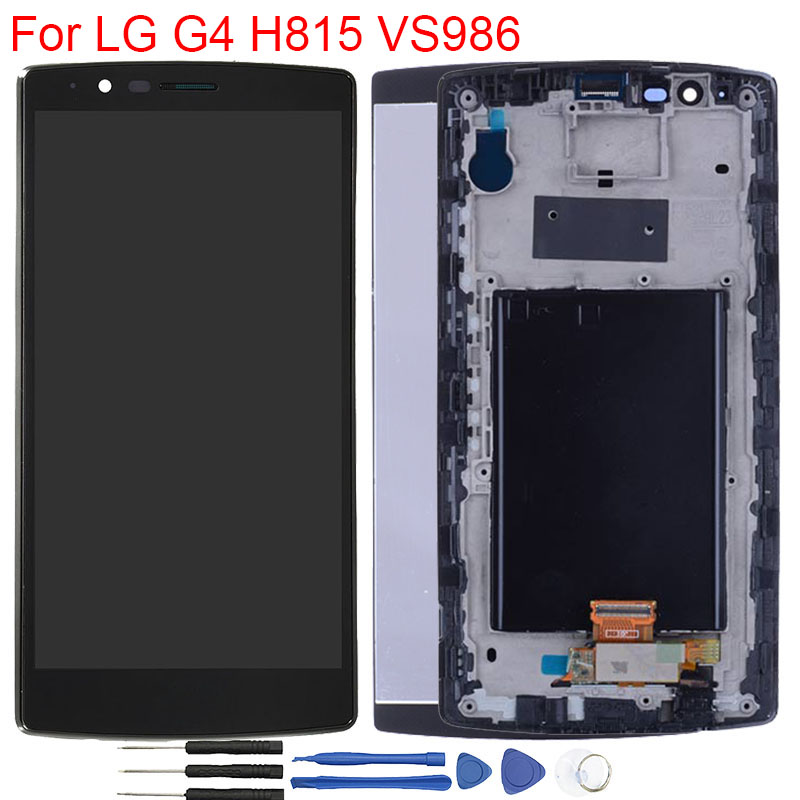 Original LCD Touch Screen For LG G4 LCD Display Frame Module Assembly Single SIM Display For LG G4 H815 VS986 Replacement LCD image