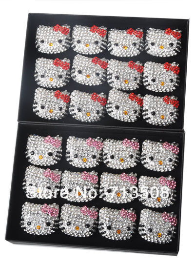 2 color mixed HELLO KITTY  rings  hello kitty ring jewelry  free shipping