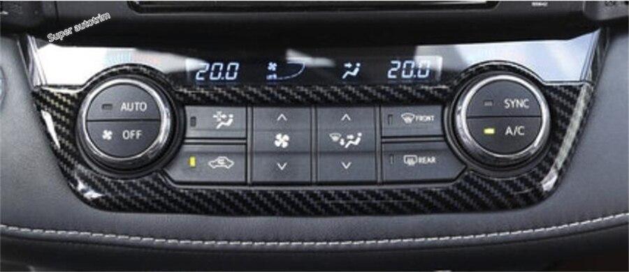 4p Black titanium Inner window switch panel cover Tirm For Toyota RAV4 2016-2017