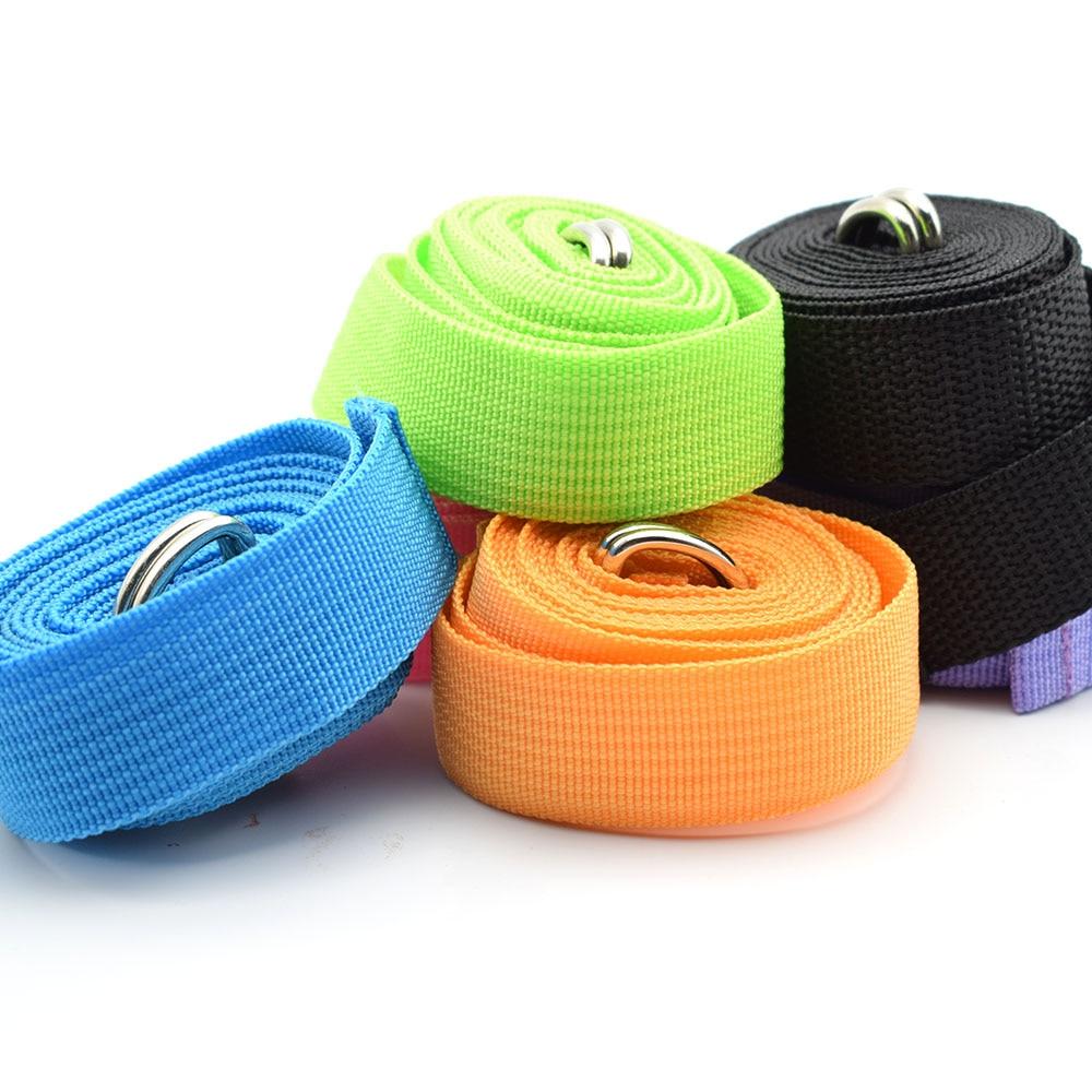180CM Sport Yoga Stretch Strap D-Ring Belt Gym Waist Leg Fitness Adjustable Belt Figure Waist Leg Resistance Fitness Bands Yoga