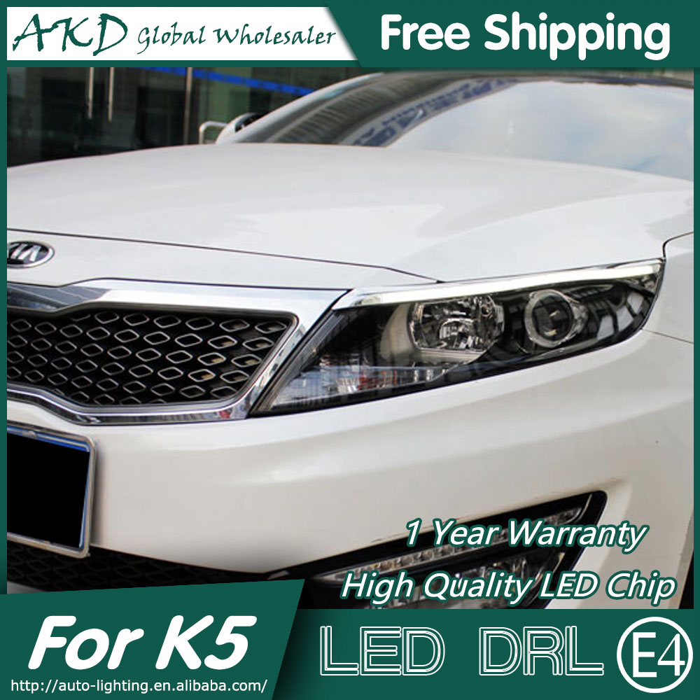 ФОТО AKD Car Styling LED DRL for Kia K5 2012-2014 NewOptima Eye Brow Light LED External Lamp Signal Parking Accessories