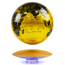 1Pcs Anti-Gravity Maglev LED Globe Ornaments Perpetual Motion Machine Office Desktop Toys Decoration Figurines Accessories 2019 pull the maglev maglev system bare electronic production diy creative toy ornaments