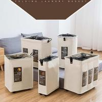 Rolling Corner Laundry Basket Durable Laundry Sorter Hamper Clothes Storage Basket Bin Organizer Washing Bag