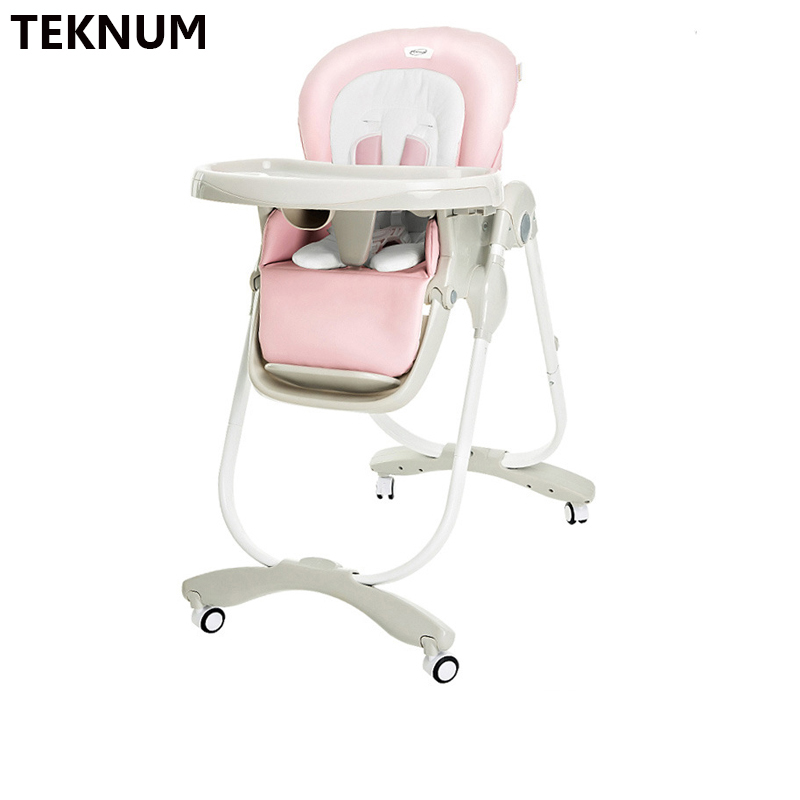 TEKNUM Baby Dining Chair Foldable Multi-purpose Portable Child Infant Regulation Meal Dining Table Dining Chair
