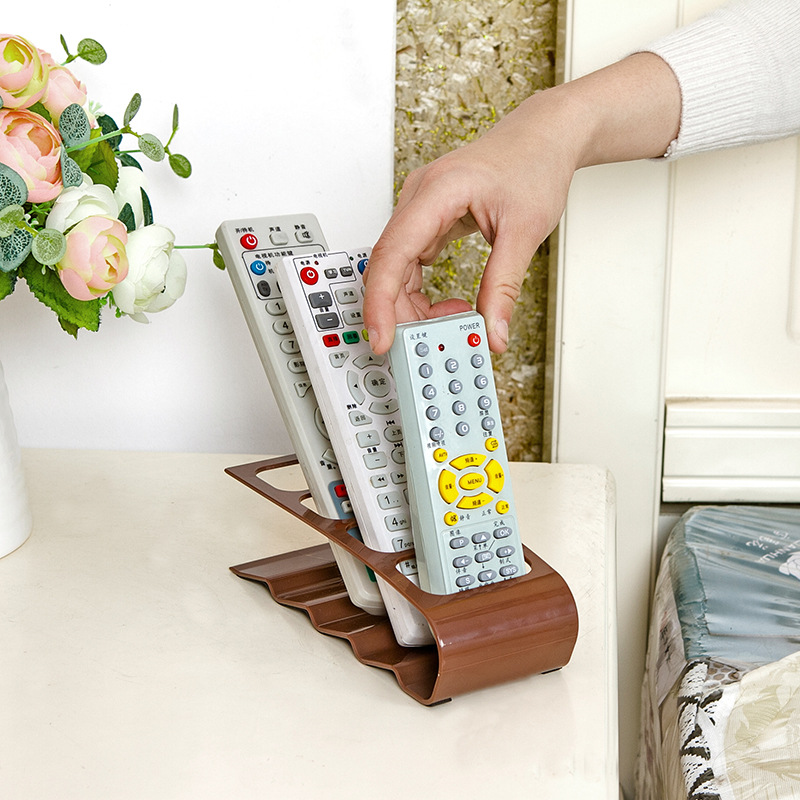 TV/DVD/VCR Organiser 4 Frame Remote Control Storage Practical Mobile Phone Holder Stand Iron Newest White Black Organizer Case Салфетницы