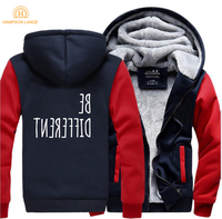 HAMPSON LANQE Creative Be Different Creative Hooded Men For Adult 2019 Winter Warm Fashion Sweatshirts Men Thicken Hoodies 5XL