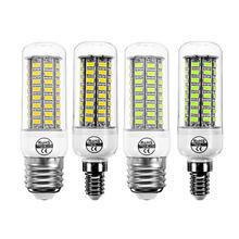 E14 E27 7W 72 SMD 5730 Warm White Pure White LED Corn Light  Bulb for Home Decoration AC220V цена