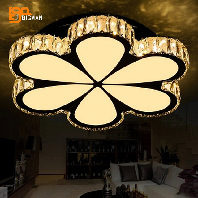 High Quality Led Ceiling Lights Crystal Lamp Plafonnier Moderne Home Lighting Fixtures