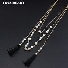 Ожерелья toucheart с бусинами из натурального камня многослойное