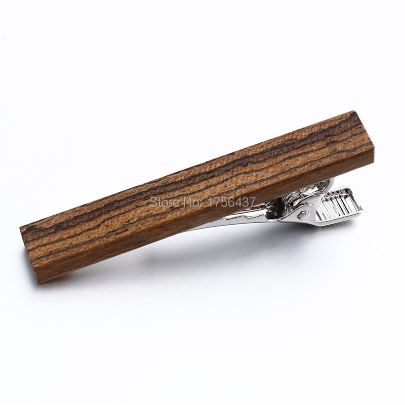 Hot Sale High quality Wood Tie clips Clamp Woodiness Tie Bar For Mens Formal Business Wedding