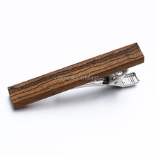 Hot Sale High quality Wood Tie clips Luxury Woodiness Tie Bar For Mens Formal Business Wedding Party Necktie wooden Tie Bar Clip