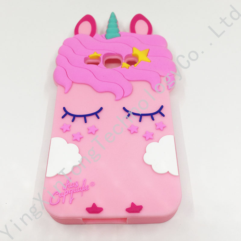 For Samsung Galaxy J1 J3 J5 J7 2016 Case Cover 3D Unicorn Soft Silicone Fundas Coque For Samsung J120 J310 J510 J710 Phone Cases in Fitted Cases from Cellphones Telecommunications