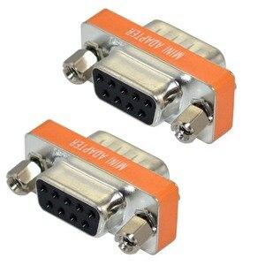 Image 3 - Nieuwe Mini Null Modem DB9 vrouwelijke om DB9 vrouwelijke plug Adapter Gender Changer NIEUWE
